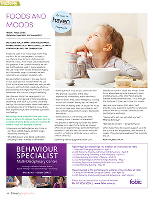 Tanya Curtis Haven for Families Magazine Foods and Moods
