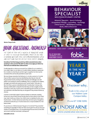 Tanya Curtis Haven for Families Magazine - Your Questions, Answered - August 2018