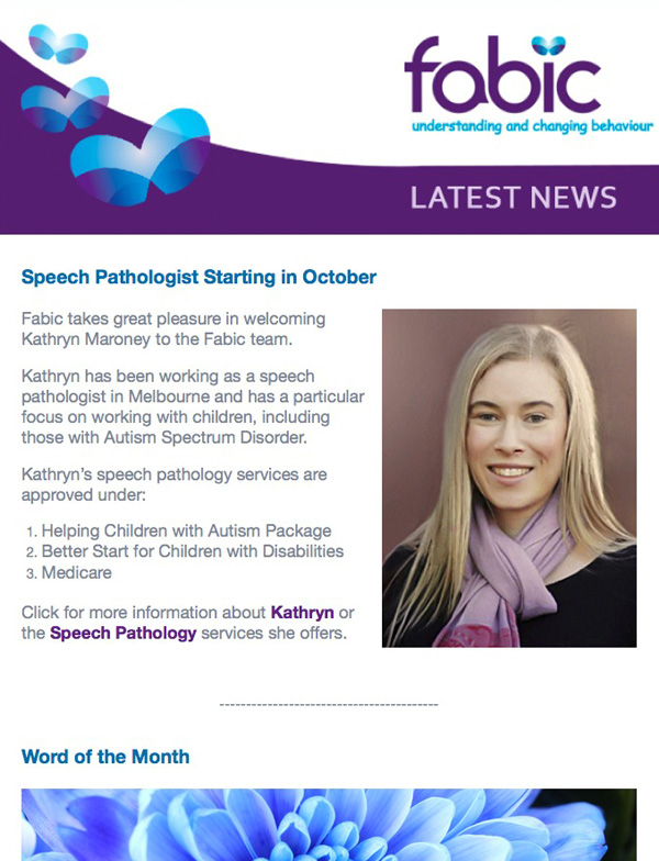 Fabic Newsletter Edition 1 - 18th September 2014