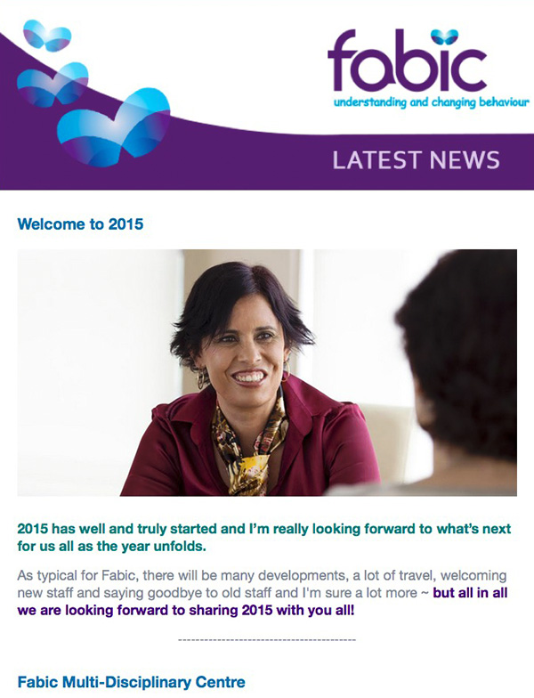Fabic Newsletter Edition 10 - Start of Year 2015
