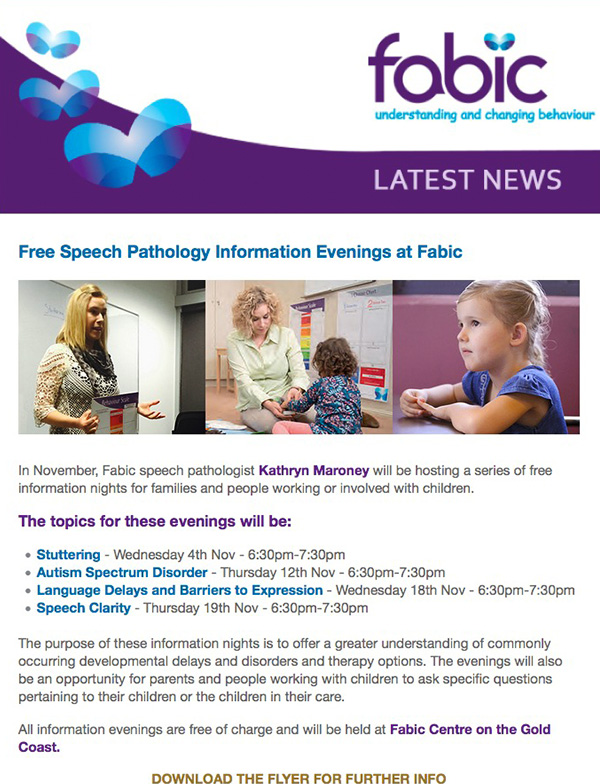 Fabic Newsletter Edition 26 - 28th October 2015