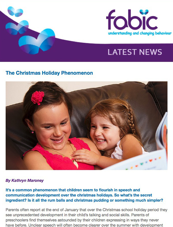 Fabic Newsletter Edition 29 - 11th December 2015