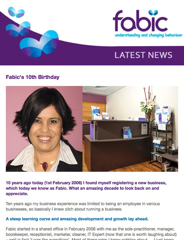 Fabic Newsletter Edition 31 - Fabic's 10th Birthday