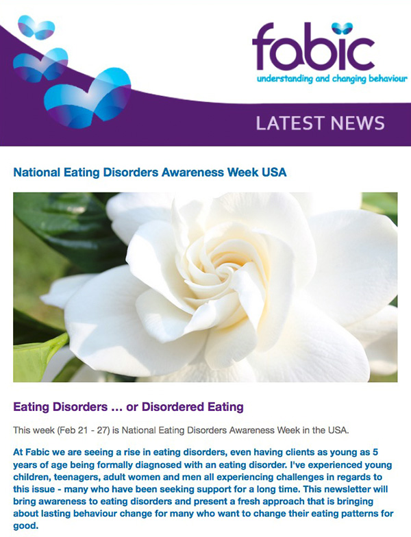 Fabic Newsletter Edition 33 - Eating Disorders Awareness Week USA