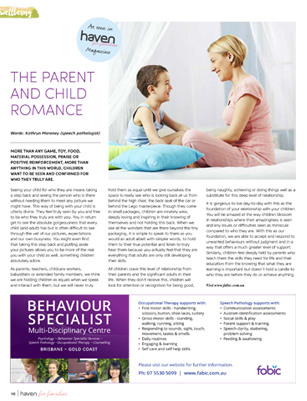 The Parent and Child Romance - Haven for Families Magazine