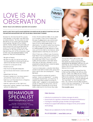 Love is an Observation by Tanya Curtis Behaviour Specialist