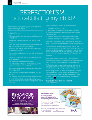 Tanya Curtis Source Kids Magazine Perfectionism is it debilitating my child?