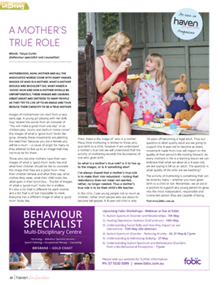 Tanya Curtis Haven for Families Magazine A Mother's True Role