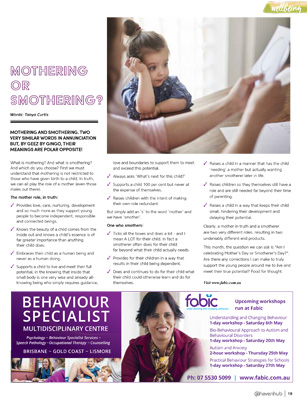 Tanya Curtis Haven for Families Magazine - Mothering or Smothering?