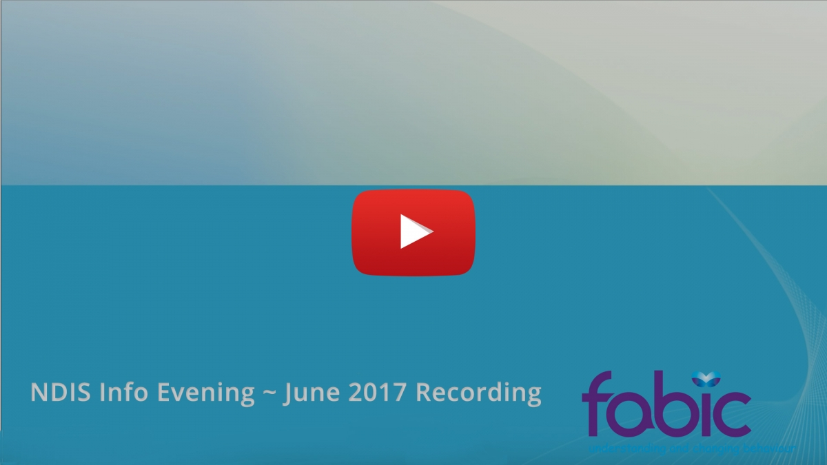 NDIS Info Evening June 2017 Recording