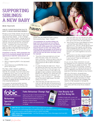 Tanya Curtis Magazine Article - Haven for Families Magazine