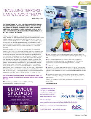 Tanya Curtis Haven for Families Magazine - Travelling Terrors - Can We Avoid Them?