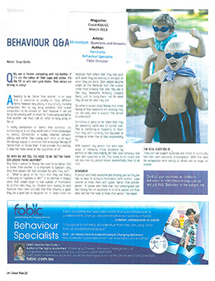 Tanya Curtis Magazine Article - Coast Kids Gold Coast