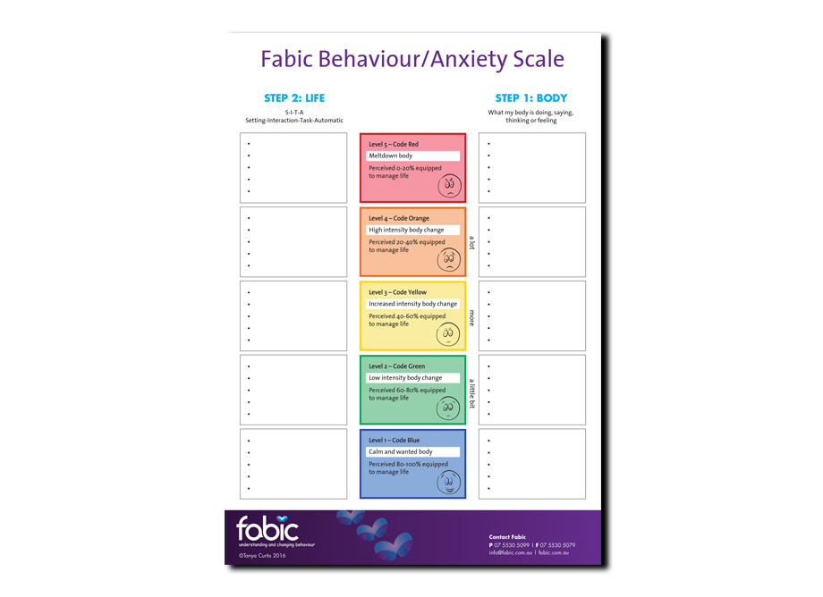 Behaviour/Anxiety Scale